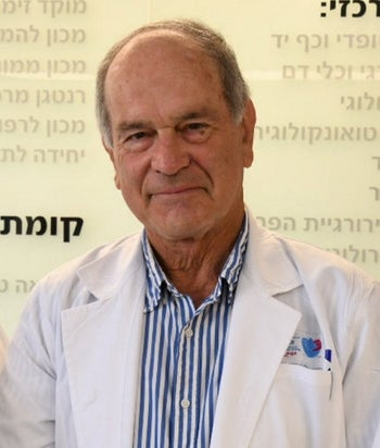 Prof. Shlomo L. Maayan, an infection control specialist at Barzilai Medical Center in Ashkelon.