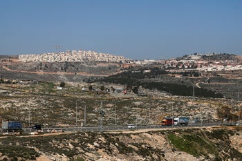 The settlement of Psagot in the West Bank, February 13, 2020