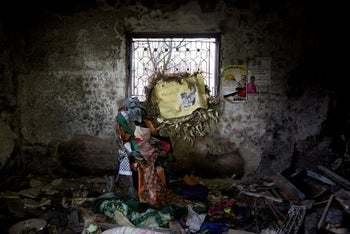Inside the Dawabsheh family home after the deadly firebombing, 2015.