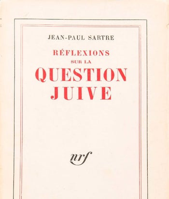 The cover of 'Réflexions sur la question juive' (called in English 'Anti-Semite and Jew') in French.