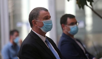 Newly appointed Health Minister Yuli Edelstein in Jerusalem, May 17, 2020.