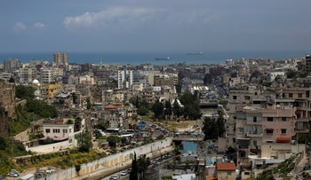 A partial view of the northern city of Tripoli, Lebanon, May 5, 2020.
