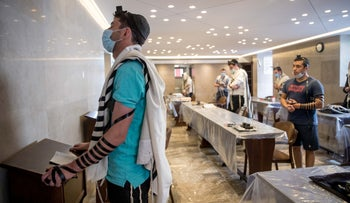 A synagogue in Nachlaot neighborhood in Jerusalem, on Wednesday, May 20, 2020.
