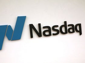 The Nasdaq logo is displayed at the Nasdaq Market site in New York, U.S., May 2, 2019.