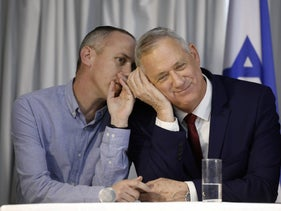 Chili Tropper, Israel's new culture minister, with Benny Gantz.