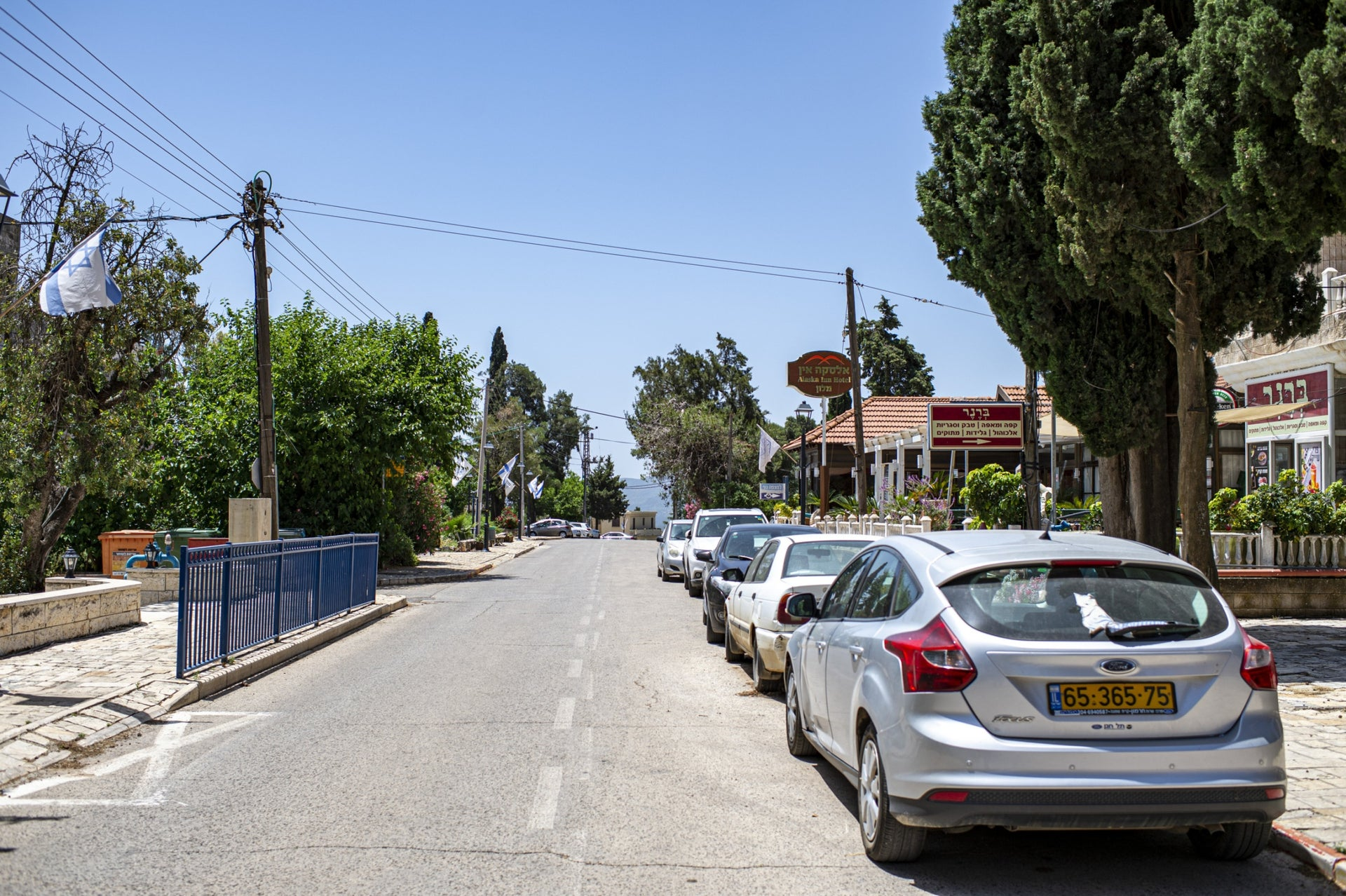 A quiet street in Metula, northern Israel, May 21, 2020.