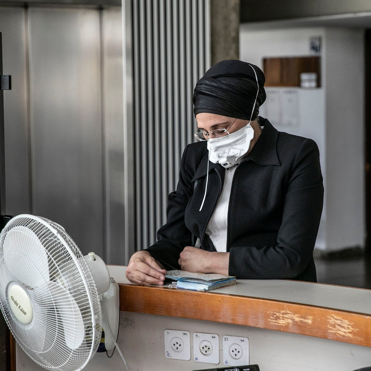 Liza Dermer, a Hidabroot employee facing privacy violations charges after contacting pregnant women to convince them not to abort, at the Tel Aviv Magistrate's Court, May 2020.