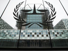 The International Criminal Court is seen in The Hague, Netherlands, November 2019.