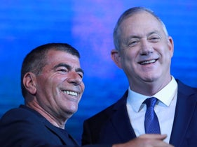 Gabi Ashkenazi, left, and Benny Gantz.