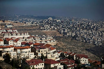 The Israeli settlement of Efrat in the Gush Etzion settlement block as Bethlehem is seen in the background, in the West Bank January 28, 2020.