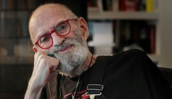 Jewish AIDS activist and author Larry Kramer poses for a portrait in his apartment in New York, June 24, 2019