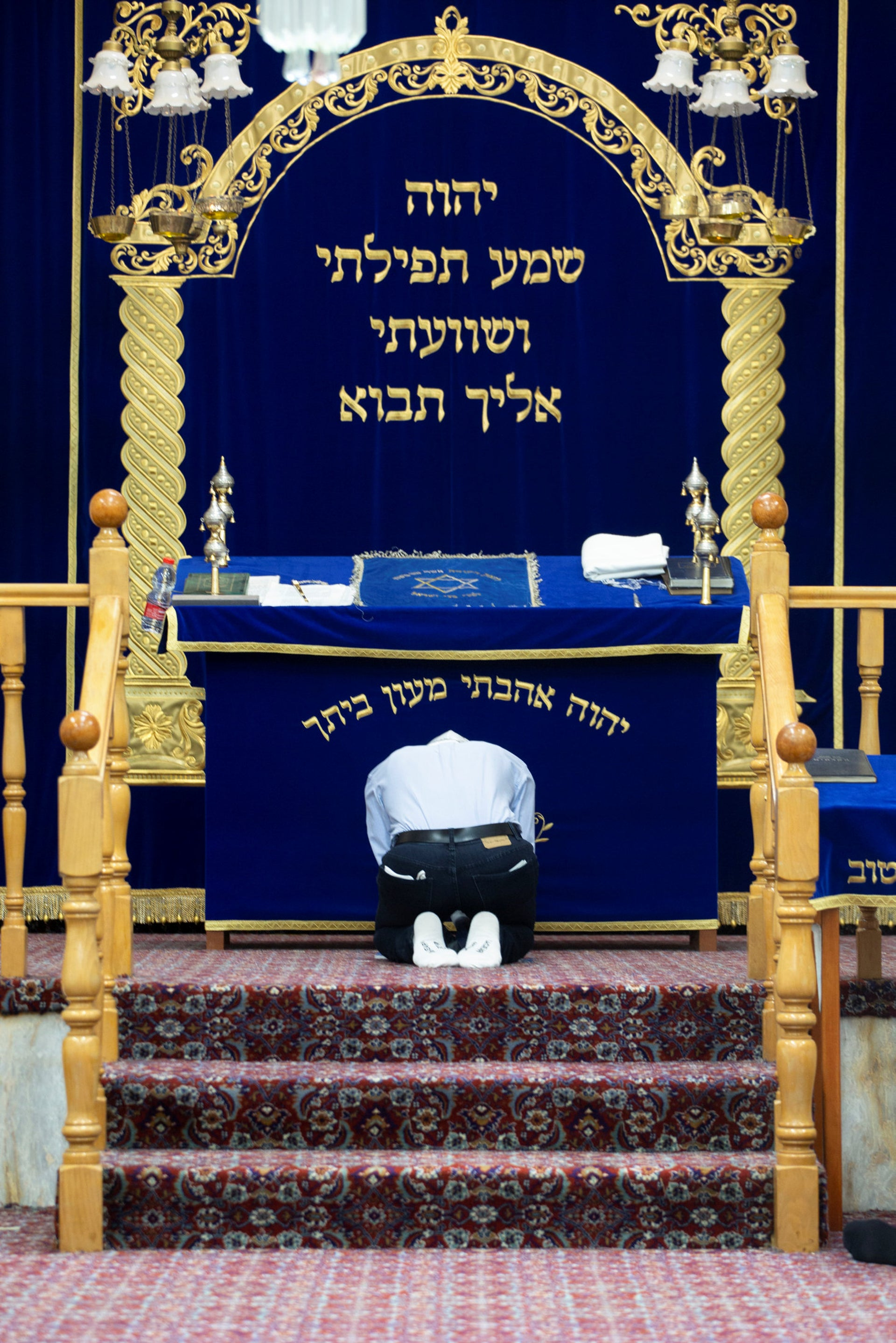 A service at Moshav Matzliach's Karaite synagogue, marking the start of the Hebrew month of Sivan, on May24 – a day after the rest of the world's Jews celebrated it.