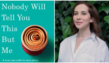 "Bess Kalb and the cover of ""Nobody Will Tell You This But Me: A True (as told to me) Story."""