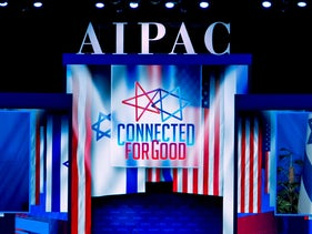 Netanyahu virtually addresses the 2020 AIPAC conference, March 26, 2020.