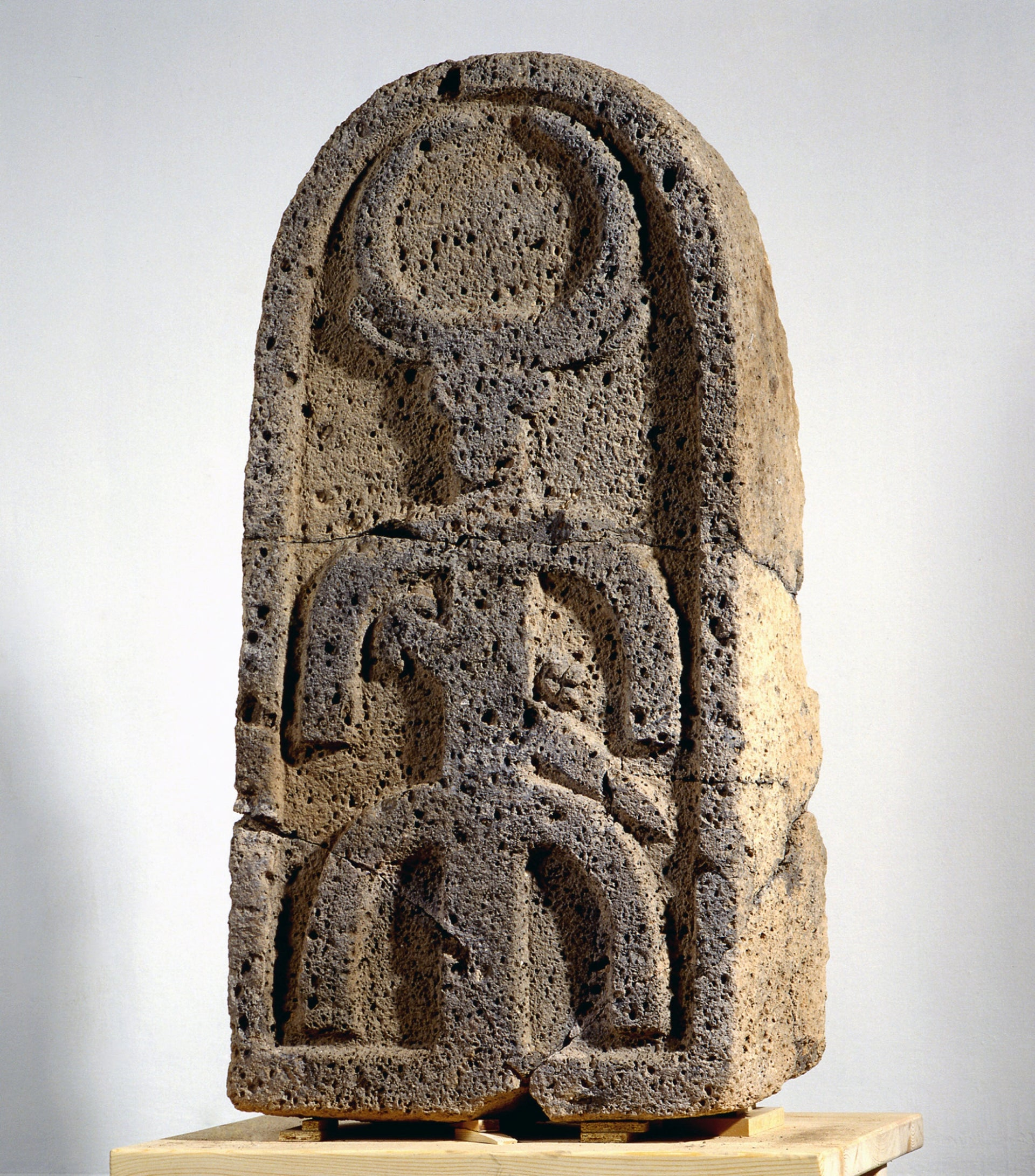 The moon god stele from the 9th-8th century B.C.E. found at e-Tell Bethsaida