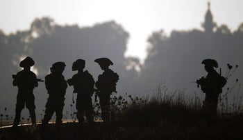 Golani soldiers in the Golan in 2013
