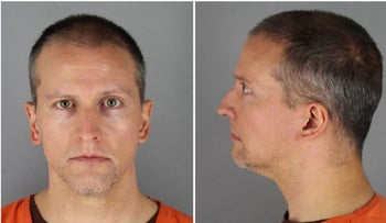 Former Minnesota police officer Derek Chauvin poses in a combination of booking photographs at Hennepin County Jail in Minneapolis, Minnesota, U.S. May 31, 2020.