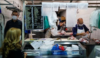 A kosher butcher shop in Buenos Aires, Argentina, May 20, 2020.