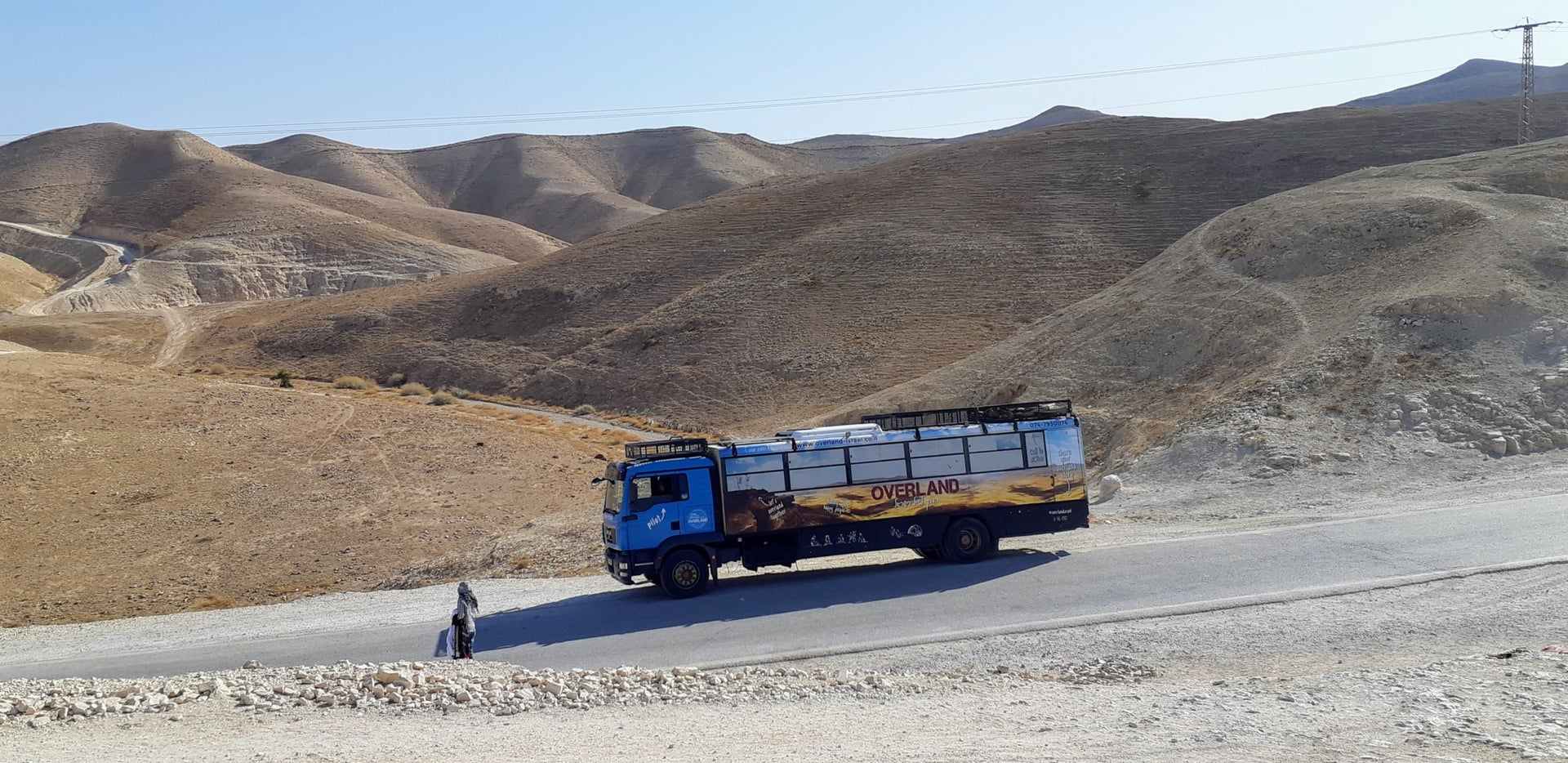 A trip through the Negev desert with an Overland Israel vehicle.