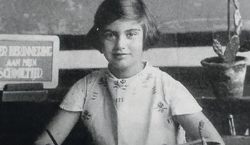Carry Ulreich at age 9. After moving to Israel after World War II and becoming Carmela Mass, she decided to publish her wartime diaries in the last years of her life.