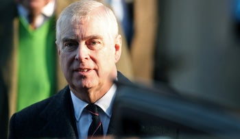 Britain's Prince Andrew leaves St. Mary the Virgin church in Hillington, near royal Sandringham estate, in Norfolk, Britain, January 19, 2020.
