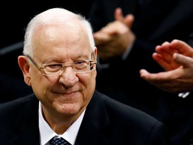President Reuven Rivlin applauded after his speech at the German parliament in Berlin, January 29, 2020.