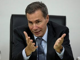 Alberto Nisman, the prosecutor investigating the 1994 bombing of the AMIA community center, talks to journalists in Buenos Aires, Argentina, May 29, 2013.