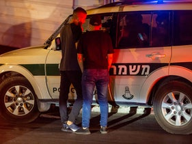 Israeli police in East Jerusalem during operations unrelated to this story, 2019.