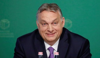 Hungarian Prime Minister Viktor Orban attends a business conference in Budapest, Hungary, March 10, 2020