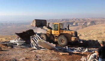Demolition in Baladim, June 15, 2020.