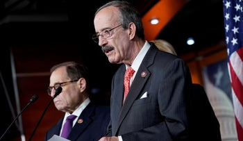 Rep. Eliot Engel speaking during a media briefing on Capitol Hill, Washington, October 31, 2019.