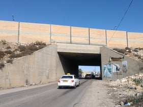 The tunnel outside Bir Nabala is the only way Palestinians can travel in and out of the West Bank enclave, which also includes the village of Jib.
