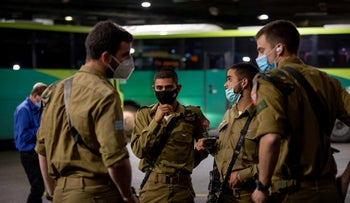 Israeli soldiers at the Central station in Jerusalem, last month.
