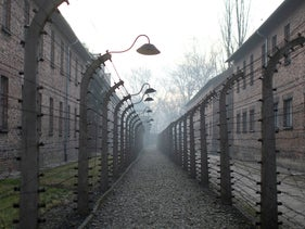 The site of the former Nazi concentration and extermination camp Auschwitz on January 27, 2020.