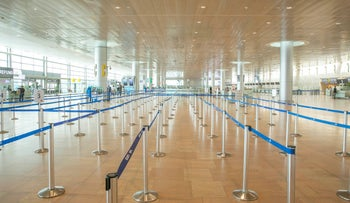 Israel's Ben-Gurion International Airport, March 2020