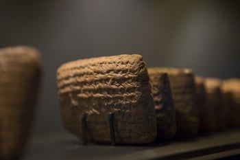 Clay cuneiform tablets dating back to the Babylon Exile 2,500 years ago