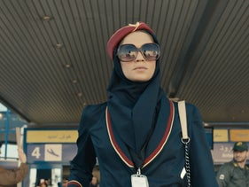 "The main protagonist Tamar Rabinyan, played by actress Niv Sultan, in the new Kan Israeli Public Broadcasting Corporation thriller television series ""Tehran,"" June 2020"