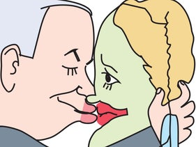 Illustration: Netanyahu and the West Bank.