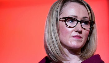 British Labour politician Rebecca Long-Bailey at an event in Manchester, north west England, January 17, 2020.