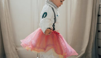 Illustration: My two-and-a-half years old son insists on wearing dresses in Ramallah