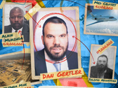 Photos of Dan Gertler, Shlomo Abihassira, Alain Mukonda, a private jet and a mine.