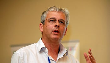 Bank of Israel's Andrew Abir at a conference in 2012.