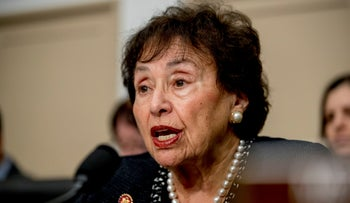 Nita Lowey, D-N.Y., speaks during a House Appropriations subcommittee, March 10, 2020.
