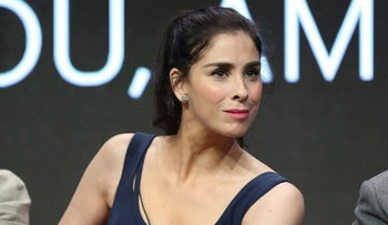 Sarah Silverman speaking at the Beverly Hilton on July 27, 2017.
