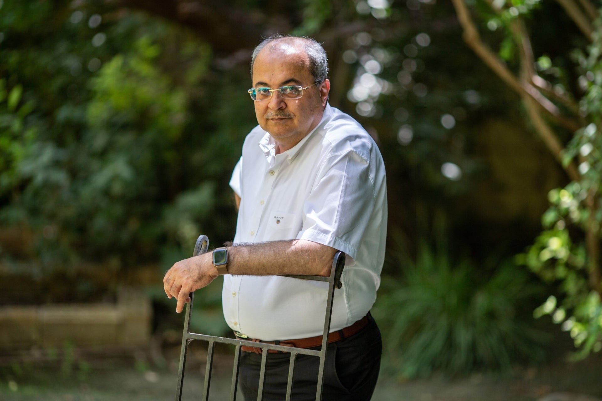 Joint List faction head and MK Ahmad Tibi, at the Israel Democracy Institute in Jerusalem, July 2020