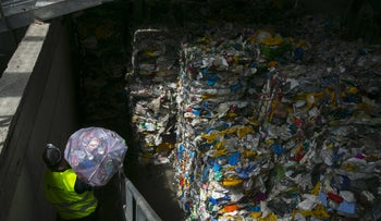 A trash-sorting plant in Israel.