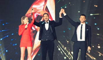 Kobi Marimi wins 2019's season of 'Rising Star,' a reality TV singing competition to choose each year's Eurovision entry, February 13, 2019.