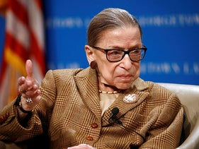 U.S. Supreme Court Associate Justice Ruth Bader Ginsburg speaks at Georgetown University Law Center in Washington, February 10, 2020.