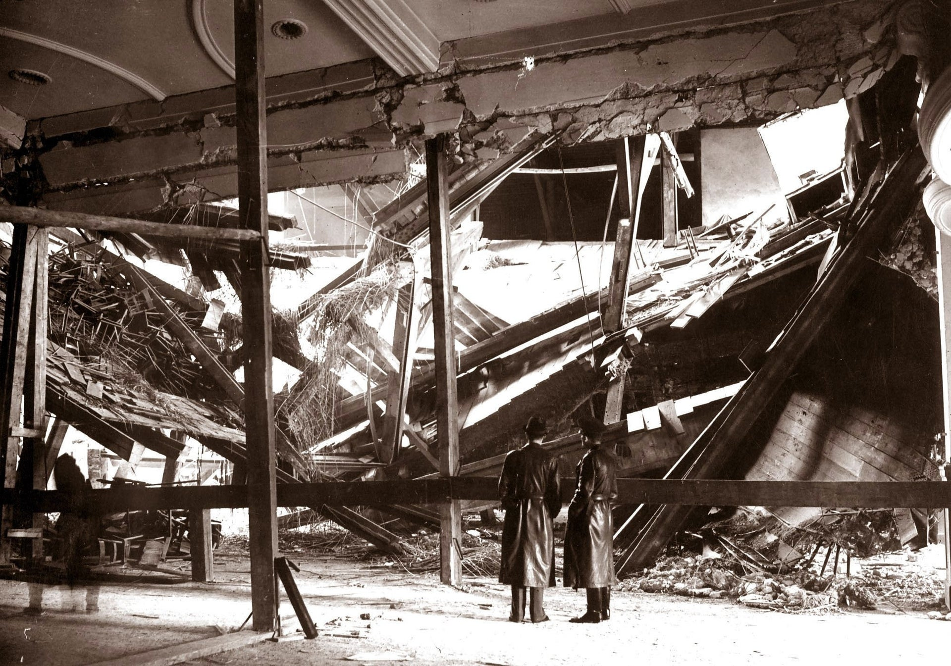 The aftermath of the bombing at a Munich beer hall in November 1939 in which Georg Elser intended to kill Hitler. Harro and Libertas preferred pamphlets to assassination attempts.