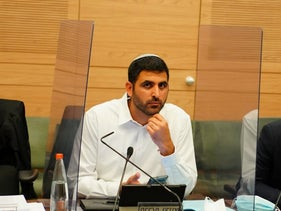Karhi at a session of the Knesset's Constitution, Law and Justice Committee, in June 2020.